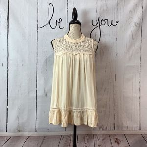 Sundance Cream Soft Lace Tank by Hazel